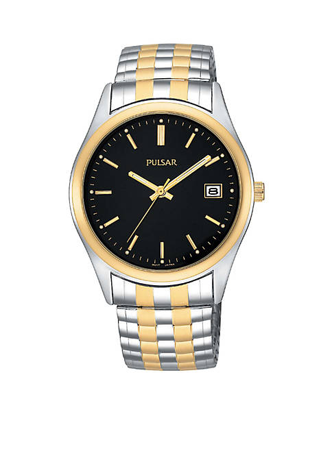 Mens Expansion Two-Tone Stainless Steel Watch