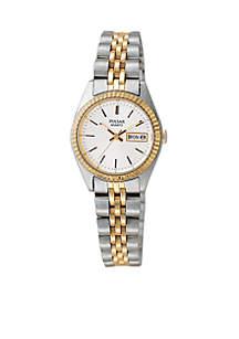 Women's Two-Tone Calendar Watch