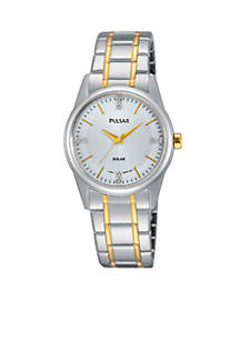 Women's Two-Tone Solar Expansion Watch