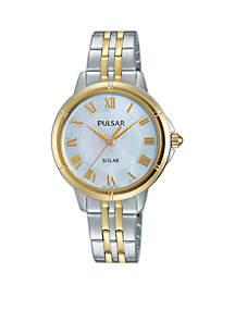 Women's Two-Tone Solar Watch