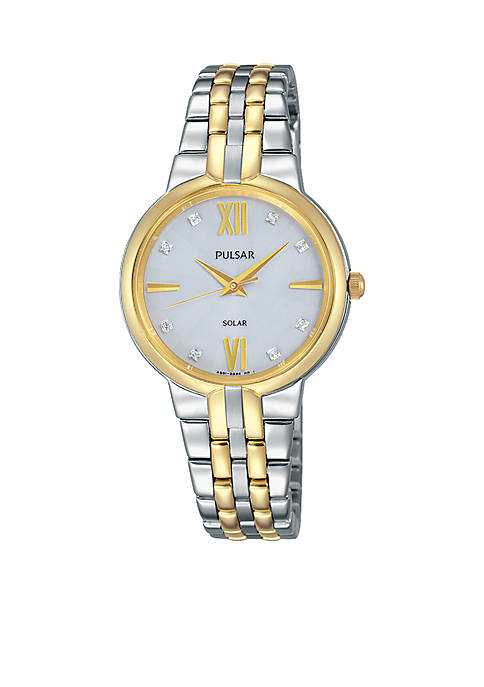 Pulsar Womens Solar Two-Tone Watch