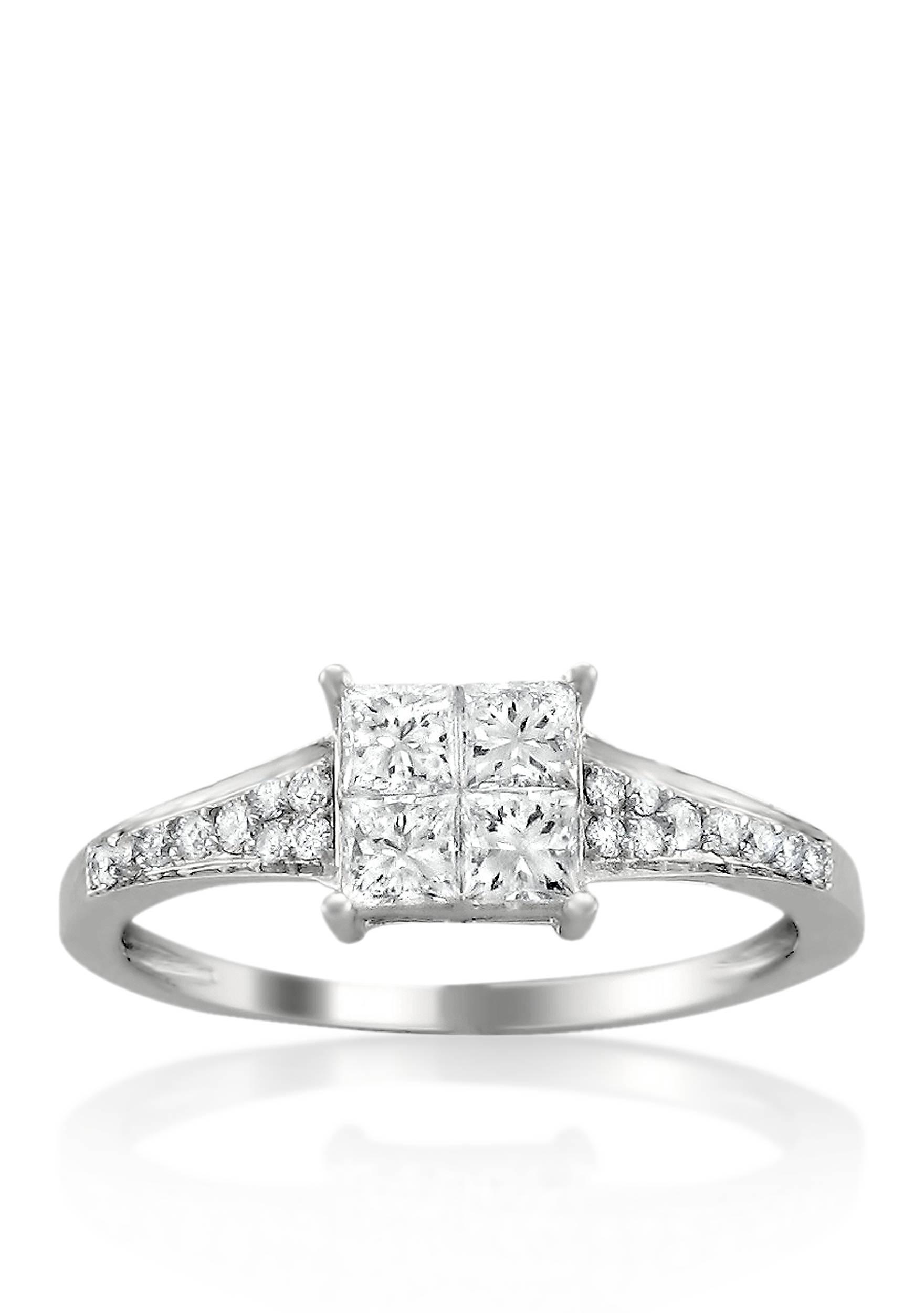 Belk & Co. 1/3 ct. t.w. Diamond Engagement Ring in 14k White Gold | belk