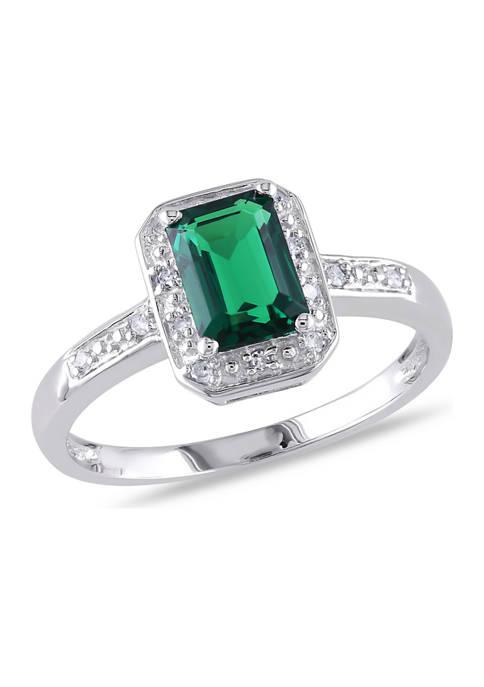 Belk & Co. 7/8 ct. t.w. Created Emerald