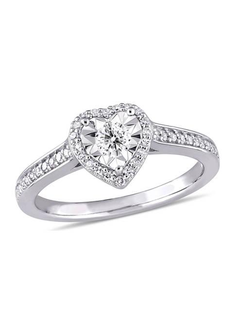 Belk & Co. 1/3 ct. t.w. Diamond Heart