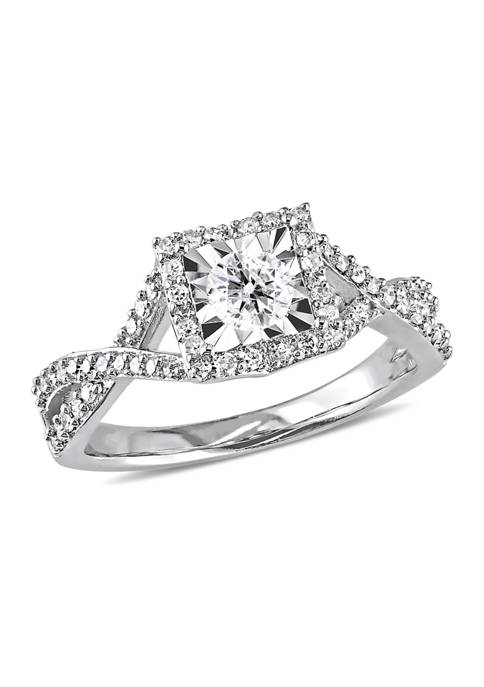 Belk & Co. 1/2 ct. t.w. Diamond Halo