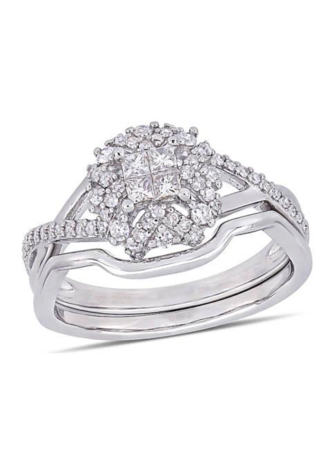 Belk & Co. 1/2 ct. t.w. Diamond Crisscross