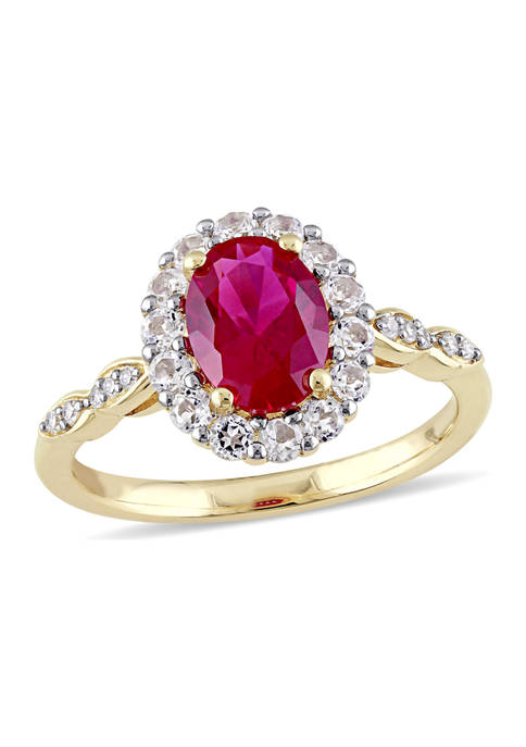 Belk & Co. Created Ruby, White Topaz and