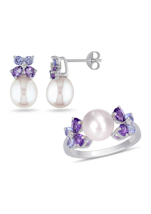 Belk & Co. 2-Piece Set Cultured Freshwater Pearl,