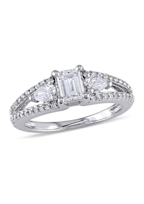 Belk & Co. 9/10 ct. t.w. Diamond Emerald