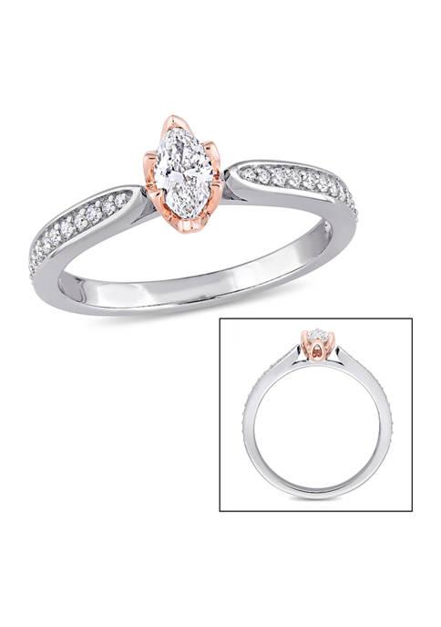 Belk & Co. 1/2 ct. t.w. Diamond Marquise