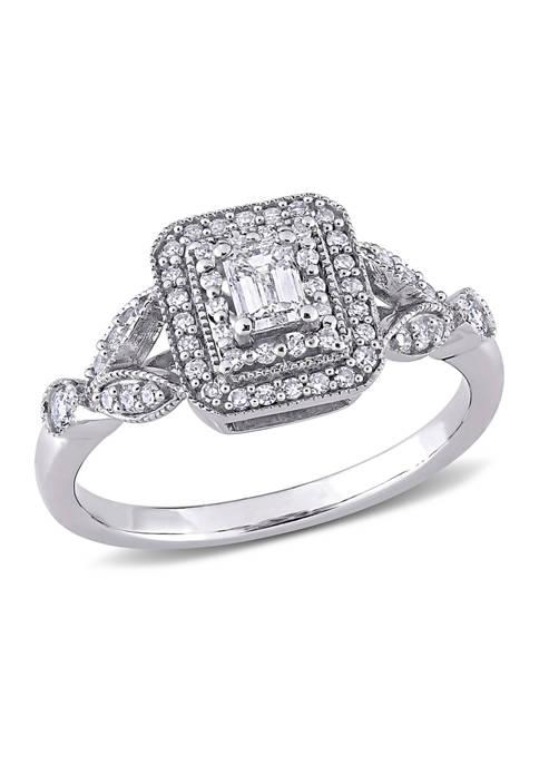 Belk & Co. 1/2 ct. t.w. Diamond Emerald