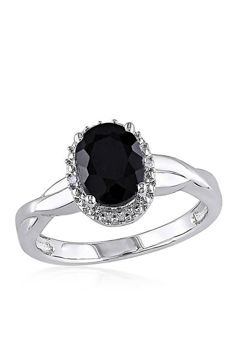 Belk & Co. Black Sapphire and Diamond Ring