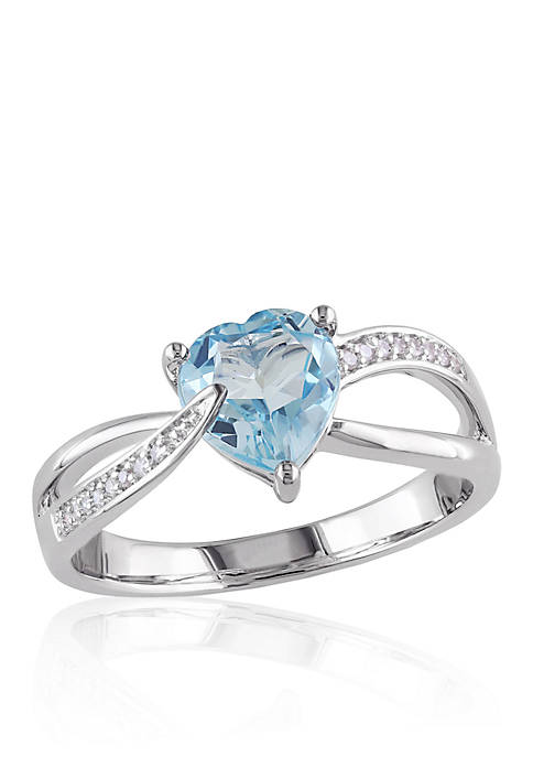 Belk & Co. Sterling Silver Blue Topaz and