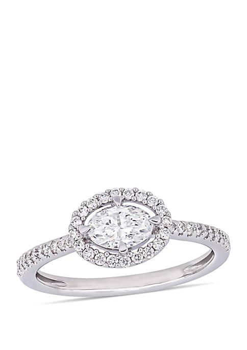 Belk & Co. 0.75 ct. t.w. Oval-Cut Diamond