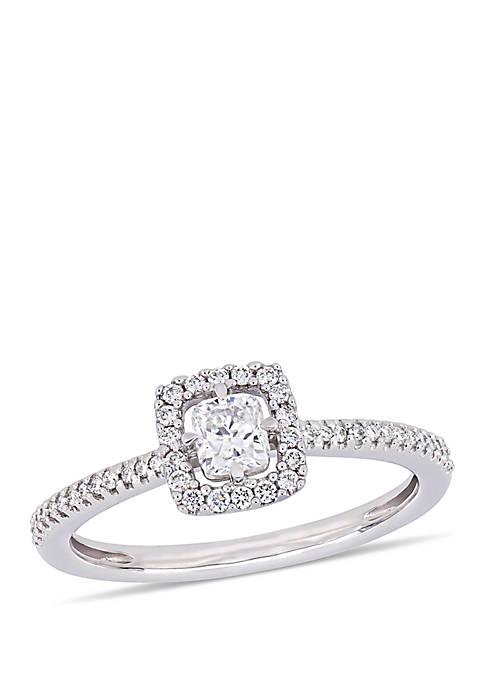 Belk & Co. 0.5 ct. t.w. Cushion-Cut Diamond