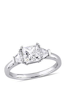 1.75 ct. t.w. Princess and Round Cut Diamond Engagement Ring in 14K White Gold