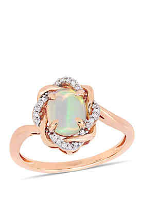 e9b8e4f20 Belk & Co. 3/4 ct. t.w. Ethiopian Blue Opal and 1/ ...