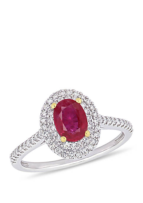 Belk & Co. 7/8 ct. t.w. Oval Ruby