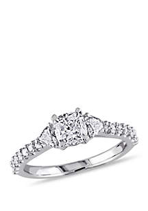 1.25 ct. t.w. Multi-Shape Diamond Engagement Ring in 14k White Gold