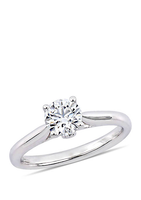 1/2 ct. t.w. Diamond Engagement Ring in 18K White Gold