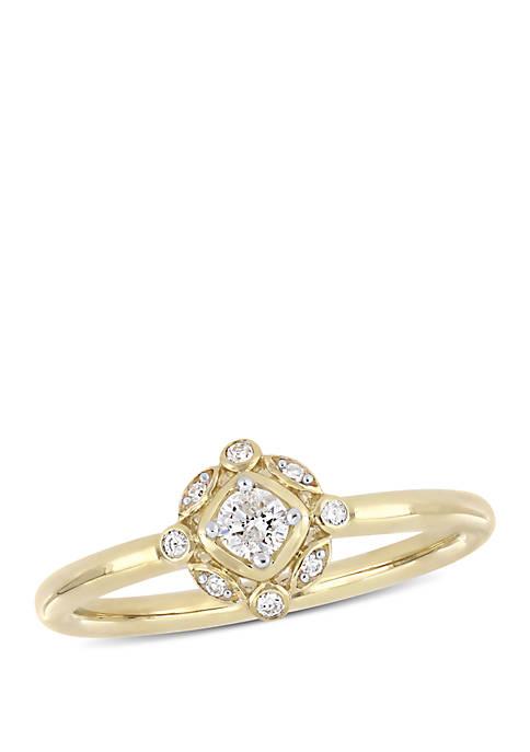 1/6 ct. t.w. Diamond Bohemian Ring in 10K Yellow Gold