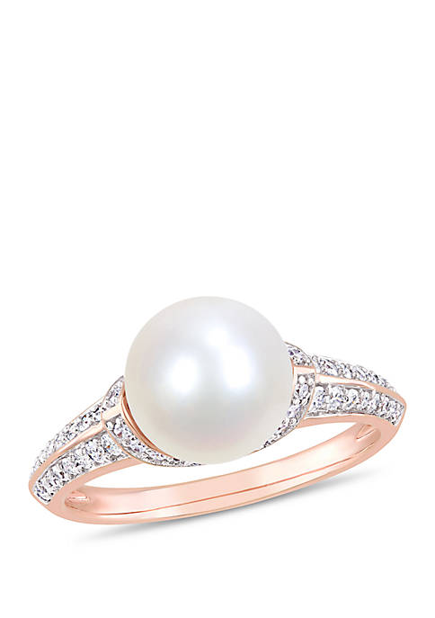Belk & Co. Cultured Freshwater Pearl and 1/3