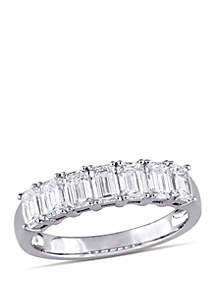 Belk & Co. 1.75 ct. t.w. Emerald Cut Diamond Semi Eternity Ring in 14k White Gold