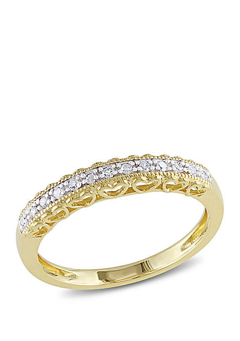 0.08 ct t.w. Diamond Heart Anniversary Band in 10K Yellow Gold