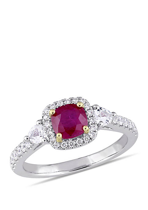 Belk & Co. Ruby, White Sapphire and 1/3