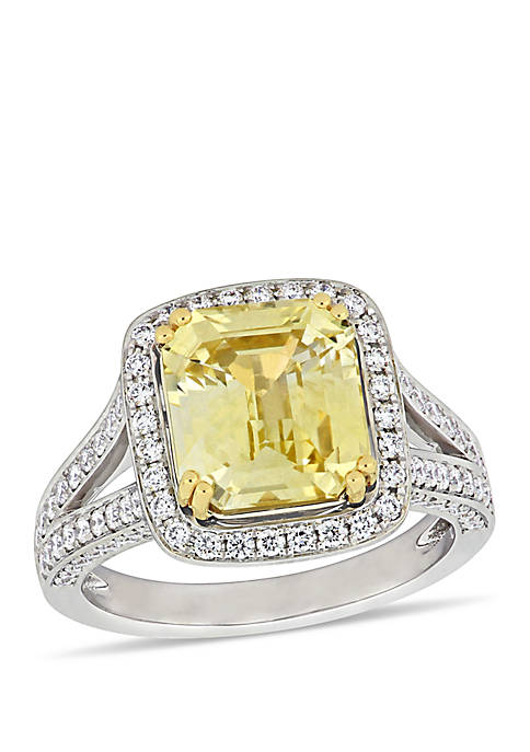 Belk & Co. Yellow Sapphire and 1 ct.