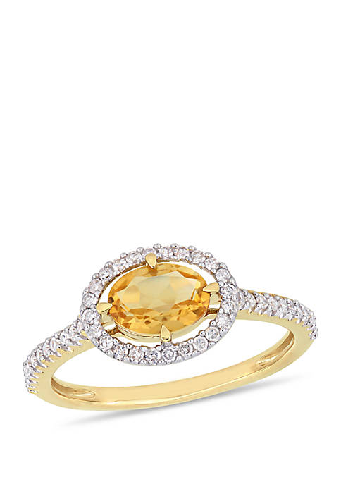 Belk & Co. Citrine and 1/4 ct. t.w.