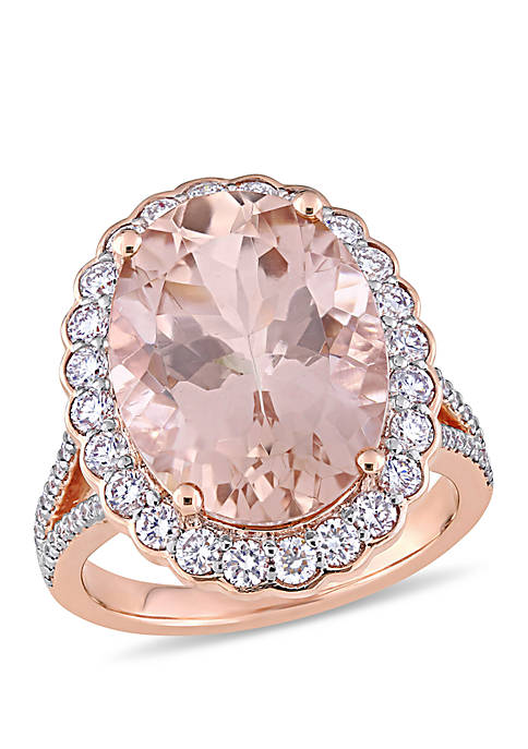 Belk & Co. Oval Morganite and 1 1/4