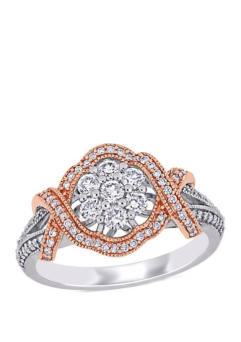 Belk & Co. 5/8 ct. t.w. Diamond Floral