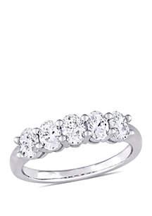 Belk & Co. 1 ct. t.w. Oval Cut Diamond Semi Eternity Band in 14k White Gold