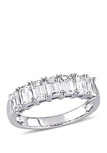 Belk & Co. 1.25 ct. t.w. Emerald Cut Diamond Semi Eternity Band in 14k White Gold
