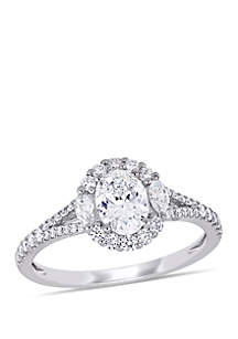 Belk & Co. 1.13 ct. t.w. Diamond Halo Engagement Ring in 14k White Gold