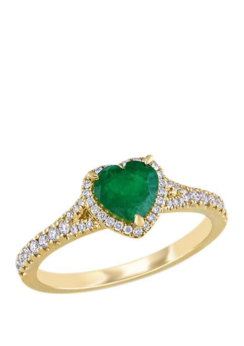 Belk & Co. 5/8 ct. t.w. Emerald and