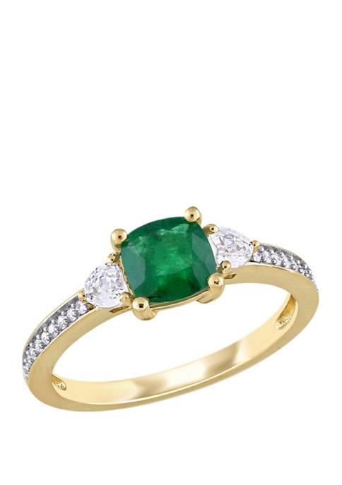 Belk & Co. 7/8 ct. t.w. Emerald, 1/3