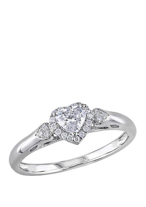 Belk & Co. 2/5 ct. t.w. Diamond Heart