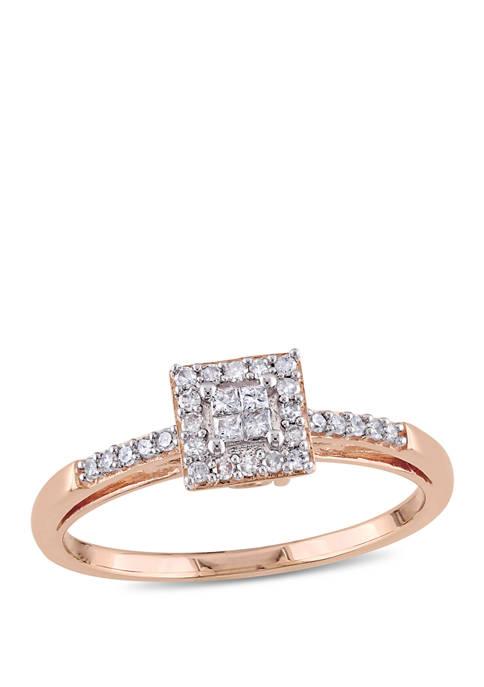1/5 ct. t.w. Diamond Princess Cut Engagement Ring