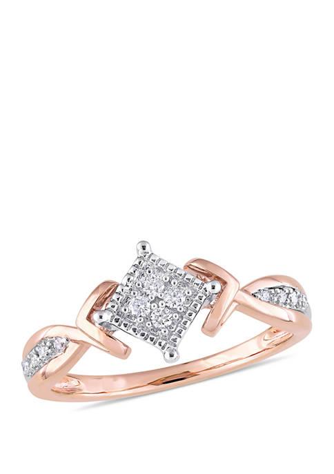 Belk & Co. 1/10 ct. t.w. Diamond Quad