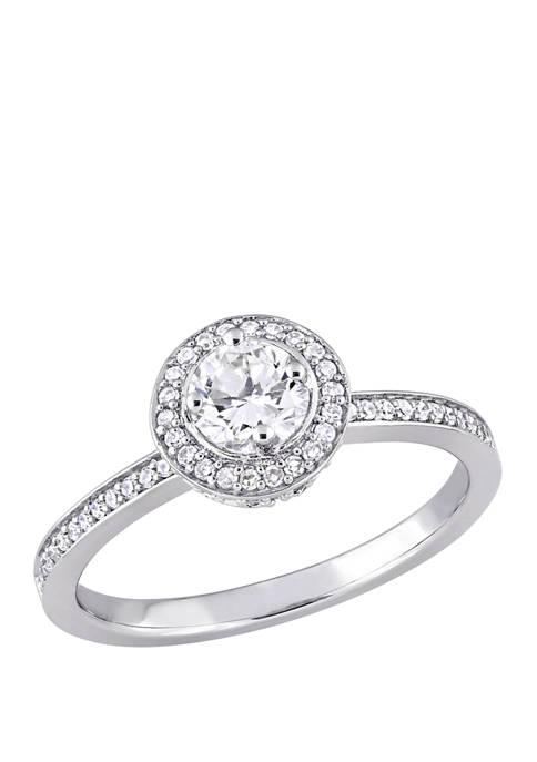 1/2 ct. t.w. Diamond Halo Engagement Ring