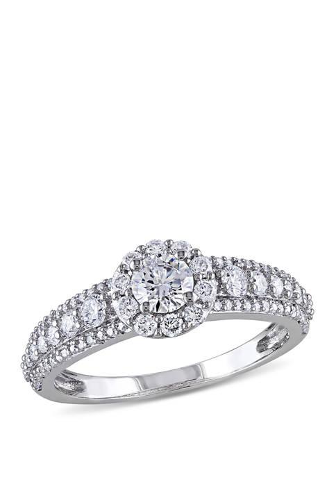 1 ct. t.w. Diamond Halo Engagement Ring