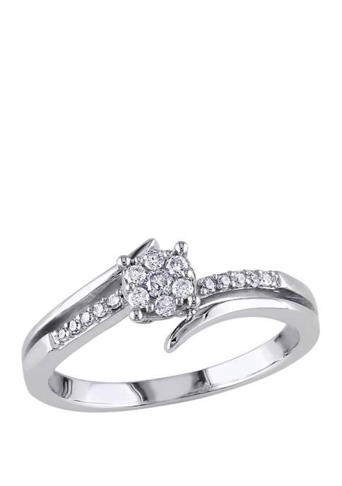 1/5 ct. t.w. Diamond Split Shank Engagement Ring