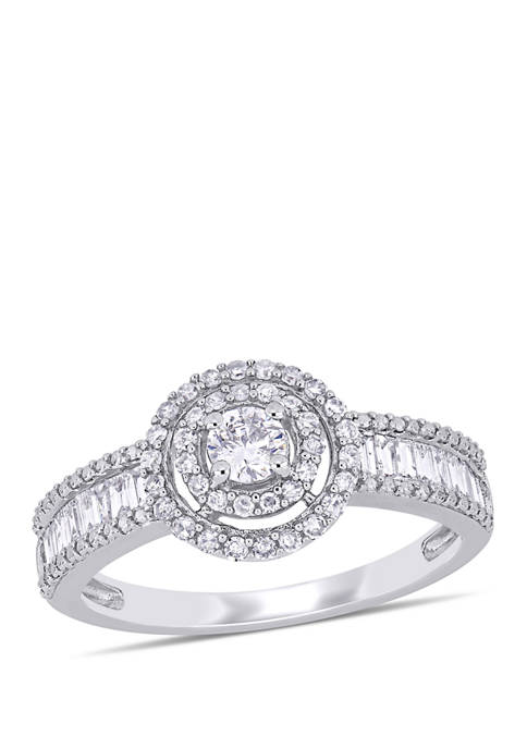 3/4 ct. t.w. Diamond Double Halo Engagement Ring