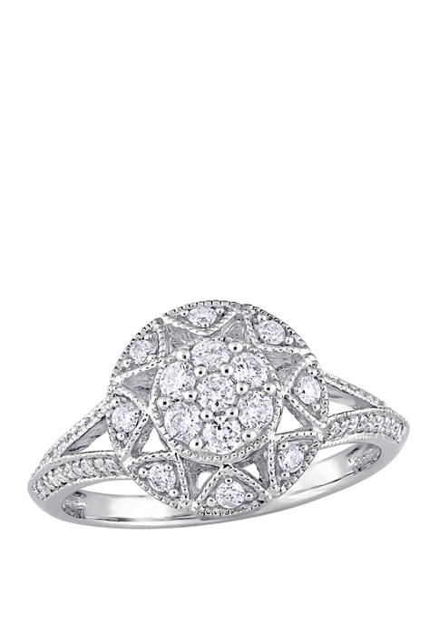 1/2 ct. t.w. Diamond Floral Ring