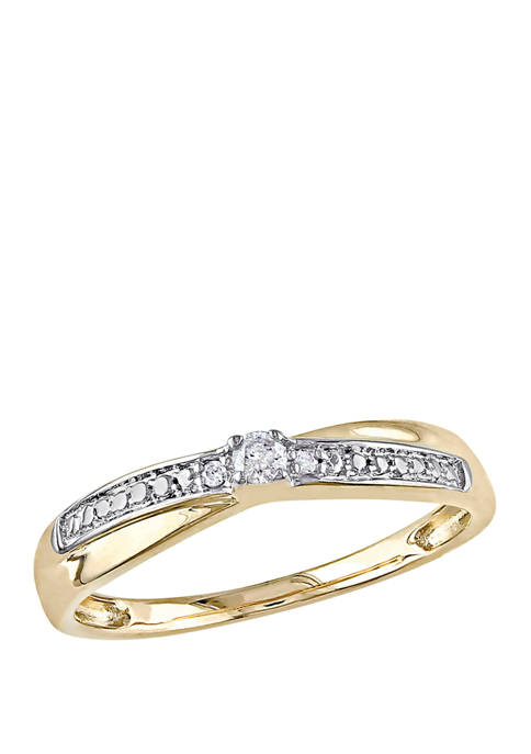 1/10 ct. t.w. Diamond Accent Promise Ring in 10k Yellow Gold