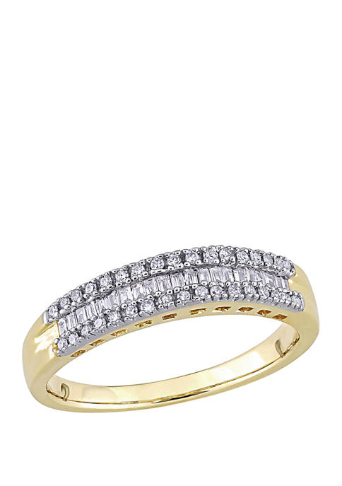 Belk & Co. 1/4 ct. t.w. Baguette and