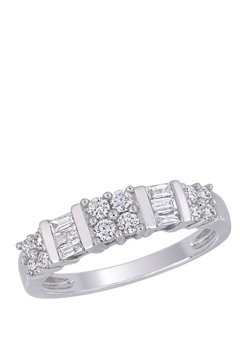 Belk & Co. 1/2 ct. t.w. Baguette and