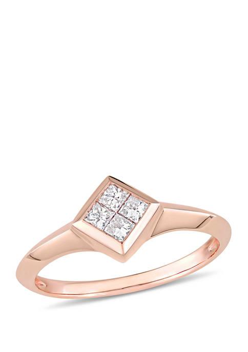 Belk & Co. Diamond Promise Ring in Rose